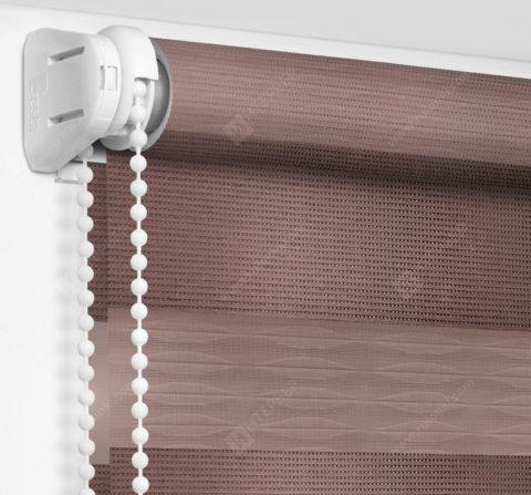 Рулонные шторы День-Ночь - Лацио коричневый 87
