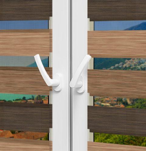 Рулонные шторы День-Ночь - Салерно 37 на пластиковые окна