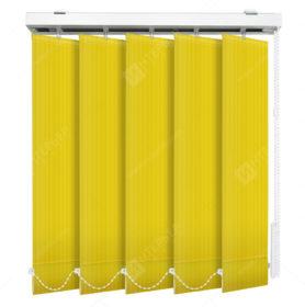 Вертикальные тканевые жалюзи Лайн желтый