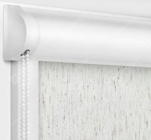 Рулонные кассетные шторы УНИ - Респект блэкаут лен