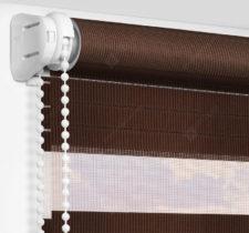 Рулонные шторы День-Ночь - Лигурия коричневый 2208
