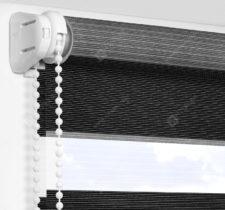 Рулонные шторы День-Ночь - Версаль черный 78